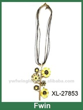 Hot selling Floral pendant cord necklace 2012 summer&autumn