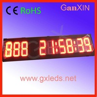 waterpoof high power outdoor led digital eco solar clock
