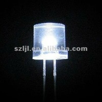 Ultra White LED 5mm Flat