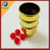 Golden three cup and ball Magic tricks