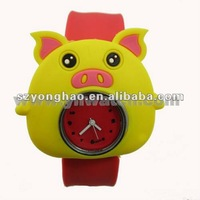 Qute mini pig silicon Watches for kids