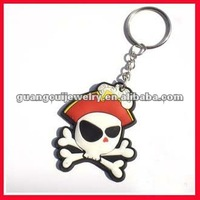 fashion skull 2d keychain