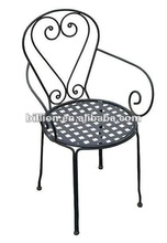2012 china factory decorative iron works chairs design