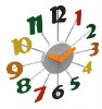 Wall Clock with colorful Number