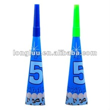 Promotional paper party horn,noisemaker for boys' birthday party