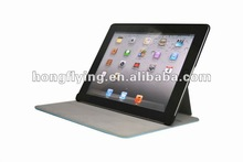 2012 New Arrivals PU Leather case for iPad case with heat shaping wake sleep leather cover for ipad3