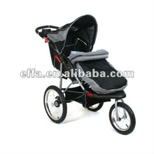 Baby Jogger Stroller Buggy Pram Pushchair 3 Wheels Black Mist Jogger with Foot Muff & Rain Cover