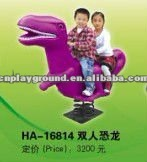 AMAZING !!!!! DINOSAUR DESIGN OUTDOOR ANIMAL ROCKING RIDE (HA-16814)