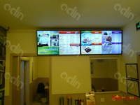 46 inch vertical wall mount indoor advertising media monitor