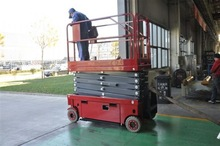 electric hydraulic scissor lift for moving goods