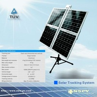 100W Dual-axisTracking Solar System/ srtong power for DC Water Pump dual axis solar tracking system