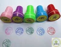Funny design custom self inking plastic toy stamps/Christmas kids cute toy stamp set