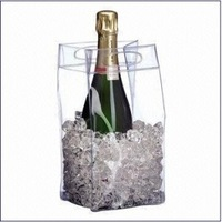 pvc clear wine cooler plastic bag