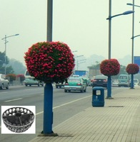 Ball planter pot For lamp pole Hanging planter for light pole pots