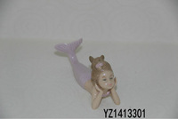 Porcelain Decoration Mermaid figurines