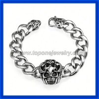 cheap newest design steel bracelet skull manufacturer