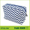 Mixed color clutch chevron cosmetics case