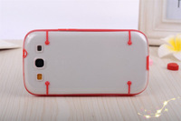 Luminous Phone Case For samsung s3 i9300, Transparent TPU PC case phone accessory, low price china mobile phone