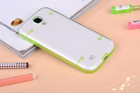 Luminous Transparent case For samsung s4 I9500, TPU+PC Phone Case, low price china mobile phone