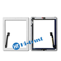 Home Button and 3M Adhesive Sticker free shipping by DHL! Best Quality Digitizer touch screen for ipad 3