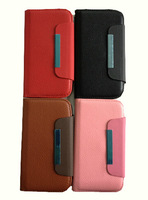ttr7118 genuine leather fip Magnetic lanyard snap card phone screen protector case