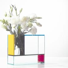 square colorful acrylic vase display