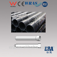 Metric Standard Plastic Tubes for glue high pressure pvc pipes for water