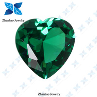 perfect chinese export heart shape cutting green spinel material gemstone heart shaped lighter