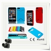 new arrival lady silicone case for apple iphone 5s with card purse