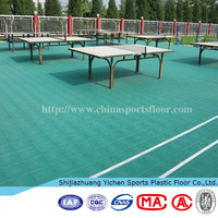 Yichen Outdoor PP Suspended Interlocking Sports Basketball Flooring