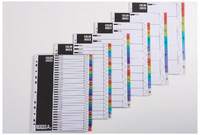 high quality cheap price plastic pp A4 index tab file divider