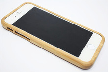 Carbonized bamboo phone case with high quality for iPhone6/ iPhone5