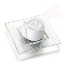 Aroma Rose Ceramic Stone with Glass Plate