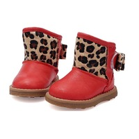 tsn1063 toddler baby shoes soft sole warm leopard pattern cute unisex baby winter boots