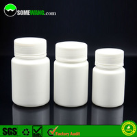 80ml empty plastic capsule containers, empty pill capsule bottle for drug vials, PE plastic capsule bottles for pill packging