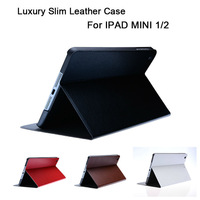 smart leather case for IPAD MINI 1/2 luxury smart cover utra slim high quality manufacturer welcome custom case