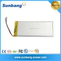 3.7v li-ion polymer battery 4000mah lithium polymer rechargeable Battery for Tablet PC E-book