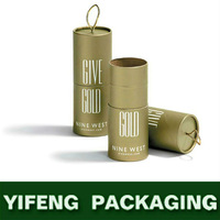 Silver Hot Foiled/Stamping Paper Card Pencil Gift Paper Handmade Packaging Tube/Round Box