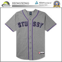 Wholesale cheap grey print baseball jersey