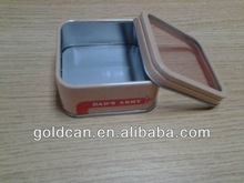 Direct factory sale rectangle coffee tin for packaging