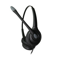 Binaural noise cancelling call center usb headset with QD coil cable and mute