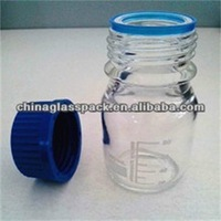 50ml,100ml,250ml,500ml Clear Color Laboratory Reagent Bottle with Blue Cap