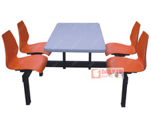 Heavy-Duty Canteen Furniture Restaurant Tables And Chairs Used Fast Food Modern Dining Set