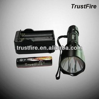 TrustFire C8 XR-E Q4 Greenlight Aluminum Rechargeable led Flashlight