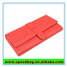 Wholesale alibaba new arrival orange women first layer genuine leather 3 fold wallet