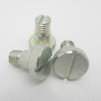 High quality Slotted knurled anodized aluminum screw