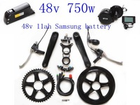 Newest 8 fun/bafang BBS02 48v 750w mid central crank motor electric bicycle /bike conversion kit with battery