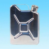 special stainless steel can shape hip flask , jerry hip flask