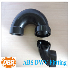 plastic water tank fitting 2inch P trap union /rubber pipe connector