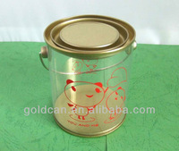 big sale promotional clear plastic bucket with handles and lid